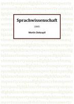 Sprachwissenschaft 2005 (2012)