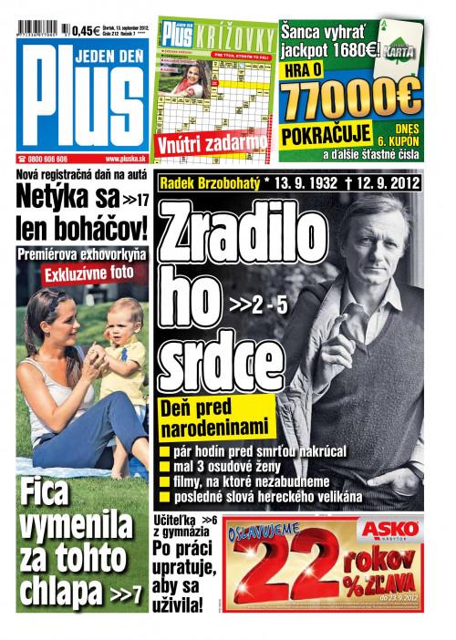 e-časopis Plus 1 deň 212 2012   vydavateľ 7 Plus - Rajknih.sk a91ab090e10
